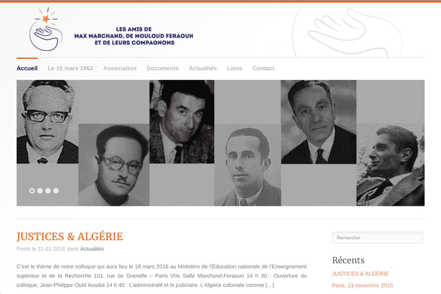 Les amis de Max Marchand, Mouloud Feraoun et de leurs compagnons