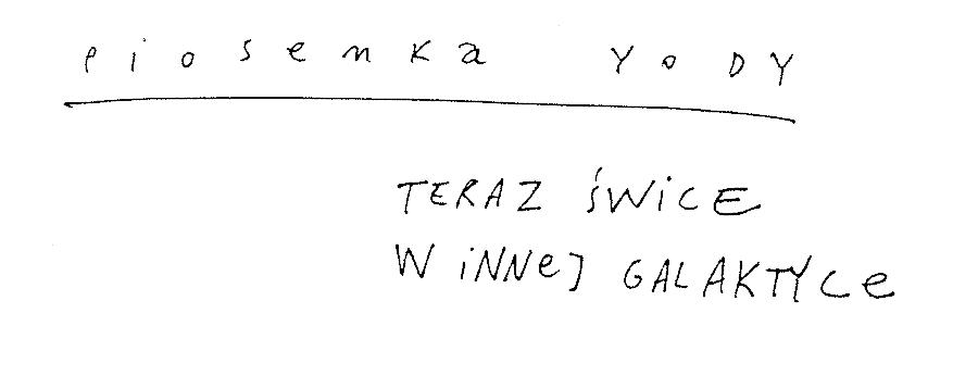 Piosenka Yody
